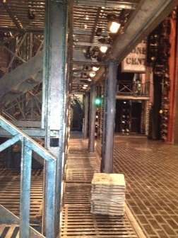 April- Annual NYC Trip on stage at Newsies