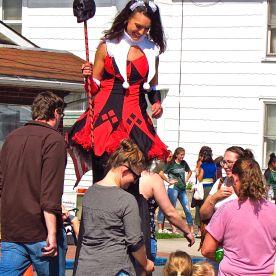 Random tall girl (stilts?)
