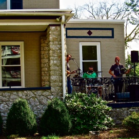 Music on a porch