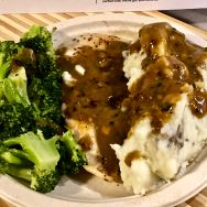This was a meal where the broccoli actually was the star. While the chicken was fresh, I was not a fan of the gravy and felt it was a bit bitter and worked against the other flavors.