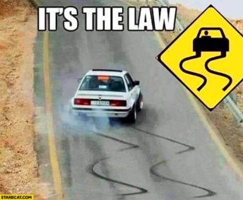 law-street-car-sign